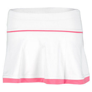 LITTLE MISS TENNIS GIRLS FLARED SKIRT W/BIKERS WHITE/PINK