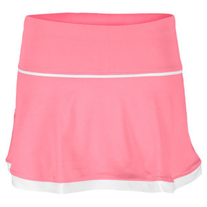 LITTLE MISS TENNIS GIRLS FLARED SKIRT W/BIKERS PINK/WHITE