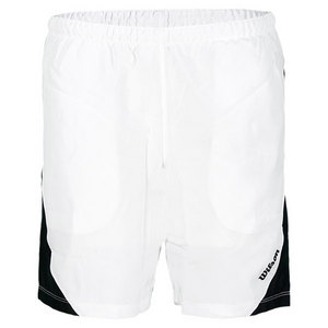 WILSON BOYS FENOM TENNIS SHORT WHITE/BLACK