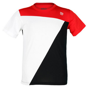 WILSON BOYS TOUGH WIN TENNIS CREW RED/WH/BK