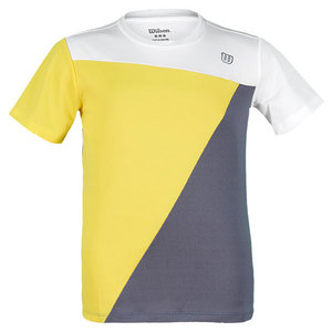 WILSON BOYS TOUGH WIN TENNIS CREW WH/GOLD/GREY
