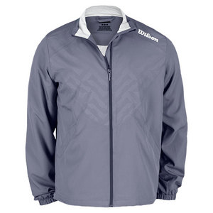 WILSON MENS PURE BATTLE TENNIS JACKET FLINT GRY