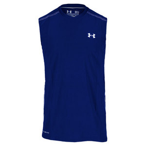UNDER ARMOUR MENS COLDBLACK SLEEVELESS TENNIS TEE
