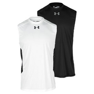 UNDER ARMOUR MENS HTGEAR FLYWGHT SLEEVELESS TENNIS T