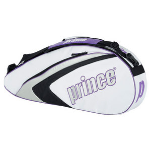 PRINCE ASPIRE TRIPLE TENNIS BAG WHITE/PURPLE
