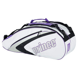 PRINCE ASPIRE SIX PACK TENNIS BAG WHITE/PURPLE