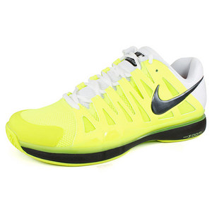 NIKE MENS ZOOM VAPOR 9 TOUR SHOES VOLT/WH/BK