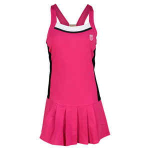 K-SWISS WOMENS WIDE STRAP TENNIS DRESS ROSE/BK