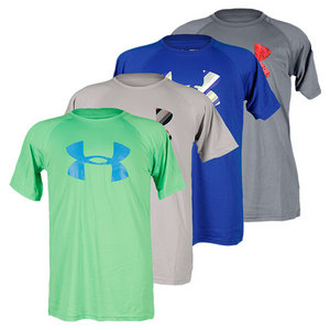UNDER ARMOUR BOYS BIG LOGO TECH SS TEE