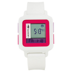 LACOSTE KINO WATCH WHITE/PINK
