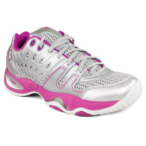 PRINCE WOMENS T22 TENNIS SHOES SILVER/BERRY