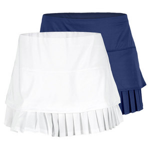 LUCKY IN LOVE WOMENS SOLID LAYERED PLEAT TENNIS SKIRT