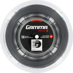 GAMMA MOTO 16G TENNIS STRING REEL BLACK