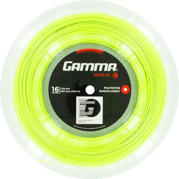 Moto 16g Tennis String Reel Lime