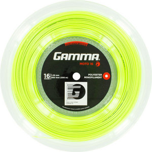 GAMMA MOTO 16G TENNIS STRING REEL LIME