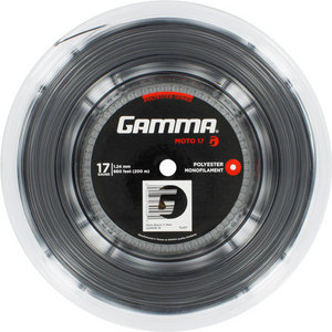 GAMMA MOTO 17G TENNIS STRING REEL BLACK