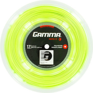 GAMMA MOTO 17G TENNIS STRING REEL LIME