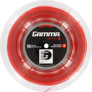 GAMMA POLY Z 16G TENNIS STRING REEL RED