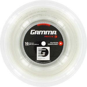 GAMMA POLY Z 16G TENNIS STRING REEL WHITE