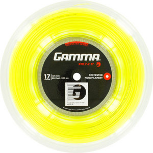 GAMMA POLY Z 17G TENNIS STRING REEL OPT YELLOW