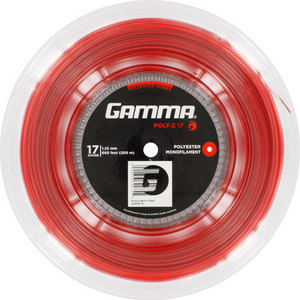 GAMMA POLY Z 17G TENNIS STRING REEL RED