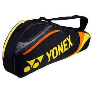 YONEX TOURNAMENT TRIPLE TENNIS BAG BLACK/YLW