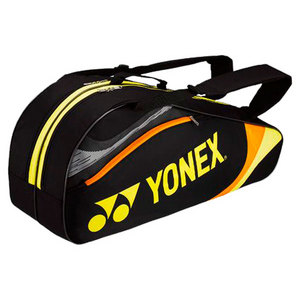 YONEX TOURNAMENT SIX PACK TENNIS BAG BLACK/YLW