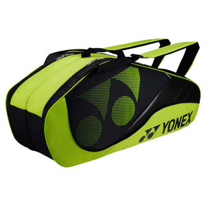 YONEX TOURNAMENT SIX PACK TENNIS BAG LIME GRN