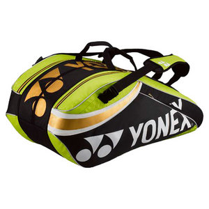 YONEX PRO NINE PACK TENNIS BAG LIME GREEN/BK
