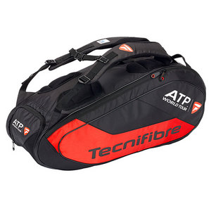 TECNIFIBRE TEAM ATP 9R TENNIS BAG BLACK/RED