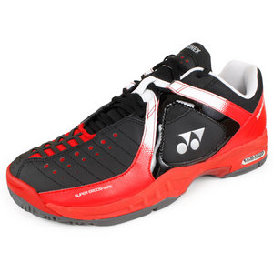 YONEX WOMENS POWER CUSHION DURABLE SHOES BK/RD