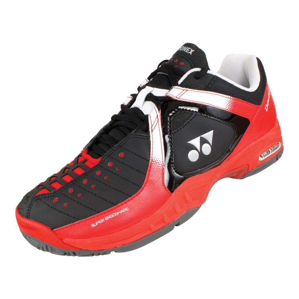 yonex unisex power cushion durable shoes bk rd