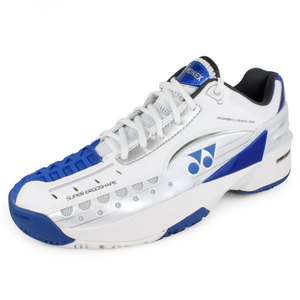 YONEX MENS POWER CUSHION 308 SHOES WHITE/BLUE
