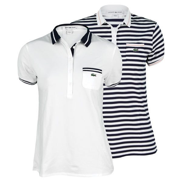 Women's Short Sleeve Technical Pique Tipped Tennis Polo