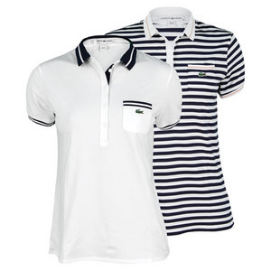 LACOSTE WOMENS SS TECHNICAL PIQUE TIPPED POLO