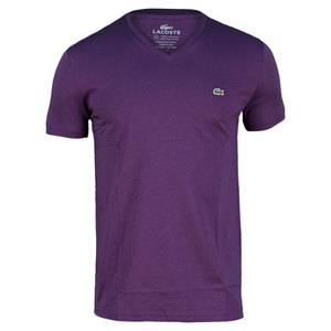 LACOSTE MENS SHORT SLEEVE PIMA V NECK TEE