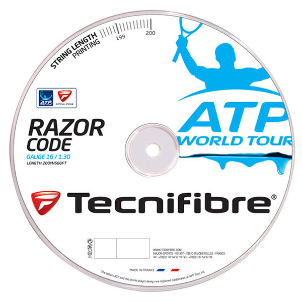 Atp Razor Code 1.30mm/16g Tennis String Reel Carbon
