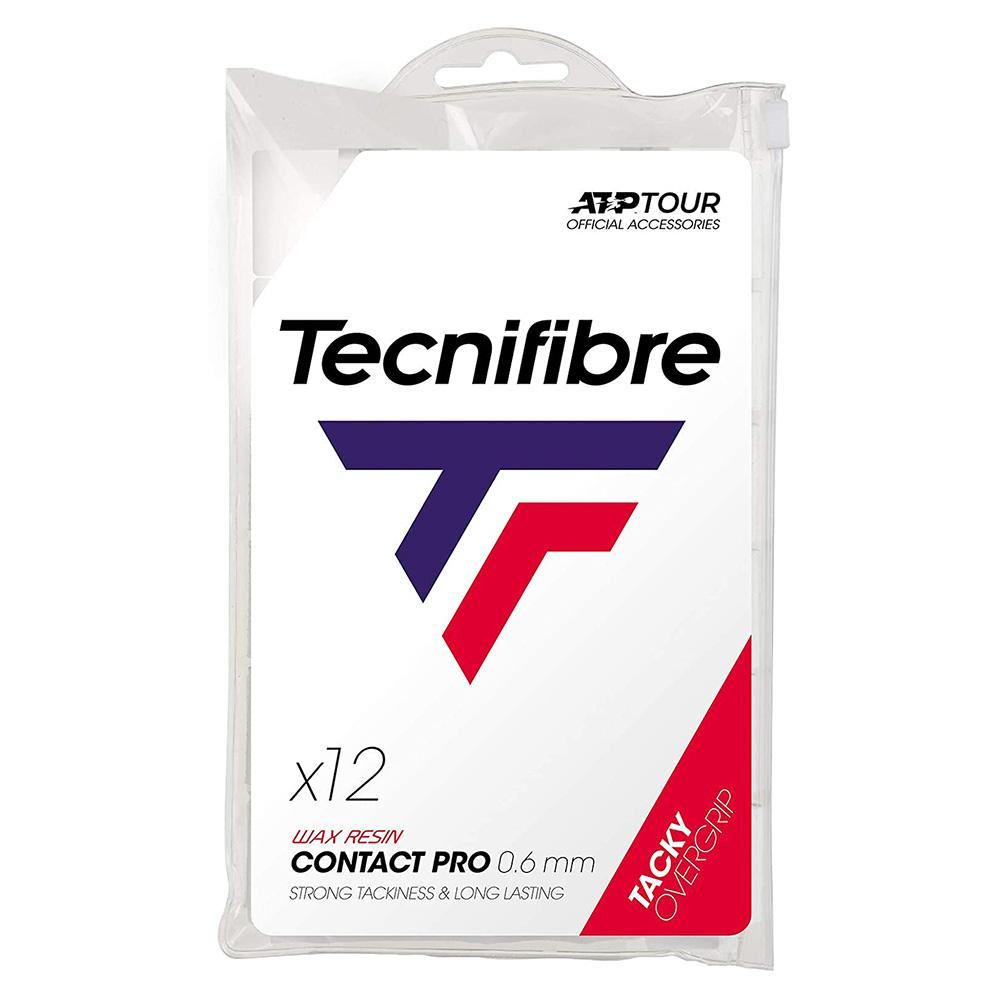 Pro Contact Tennis Overgrip 12 Pack White