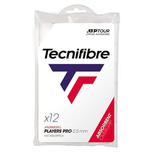 TECNIFIBRE PRO PLAYERS TENNIS OVERGRIP 12 PK WHITE