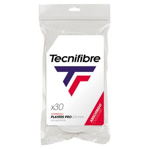 TECNIFIBRE PRO PLAYERS TENNIS OVERGRIP 30 PK WHITE