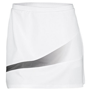 ELIZA AUDLEY WOMENS SHADOW A-LINE TENNIS SKORT WHITE