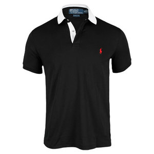 POLO RALPH LAUREN MENS TECH PIQUE TENNIS POLO BLACK