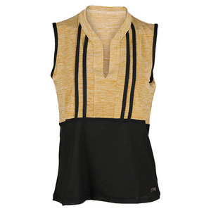 SOFIBELLA WOMENS FREEDOM TO WIN SLVELESS TOP GOLD