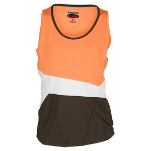 BOLLE WOMENS TUSCAN SUN TENNIS TANK ORANGE