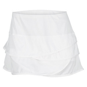 LUCKY IN LOVE WOMENS SCALLOPED BORDER TENNIS SKIRT