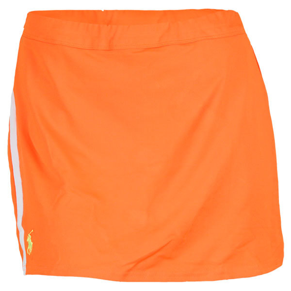 Women's Baseline Tennis Skort Neon Bright Orange