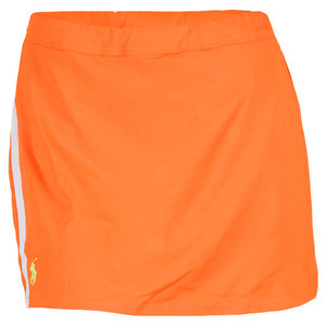 POLO RALPH LAUREN WOMENS BASELINE TENNIS SKORT ORANGE