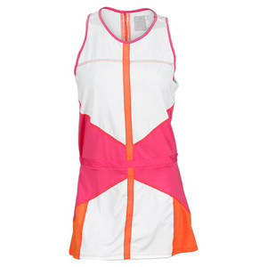 LUCKY IN LOVE WOMENS COLOR BLOCK TENNIS DRESS PINK