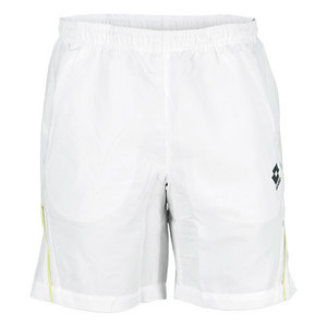 LOTTO MENS LED TENNIS SHORT WHITE/LIZARD GREEN