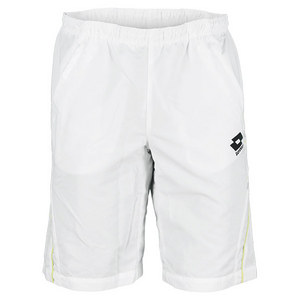 LOTTO MENS BERMUDA LED TENNIS SHORT WHITE/GN